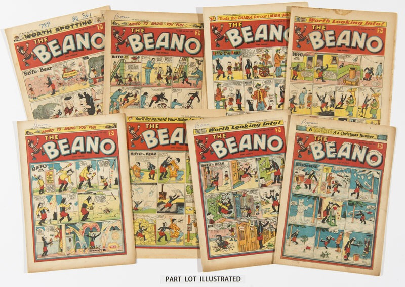Copies of The Beano from 1957