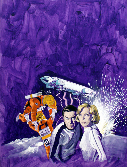 Space:1999 Cover art for Look-In by Arnaldo Putzu, perhaps better known for his stunning film poster art.