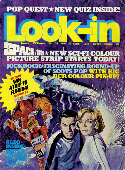 The final cover for Look-in Issue 38 featuring Space: 1999.