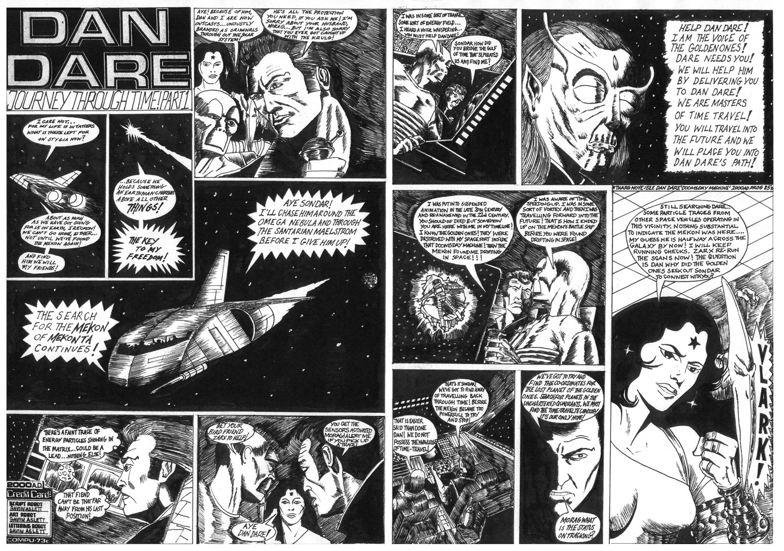 Dan Dare - Journey Through Time by Gavin Aslett: