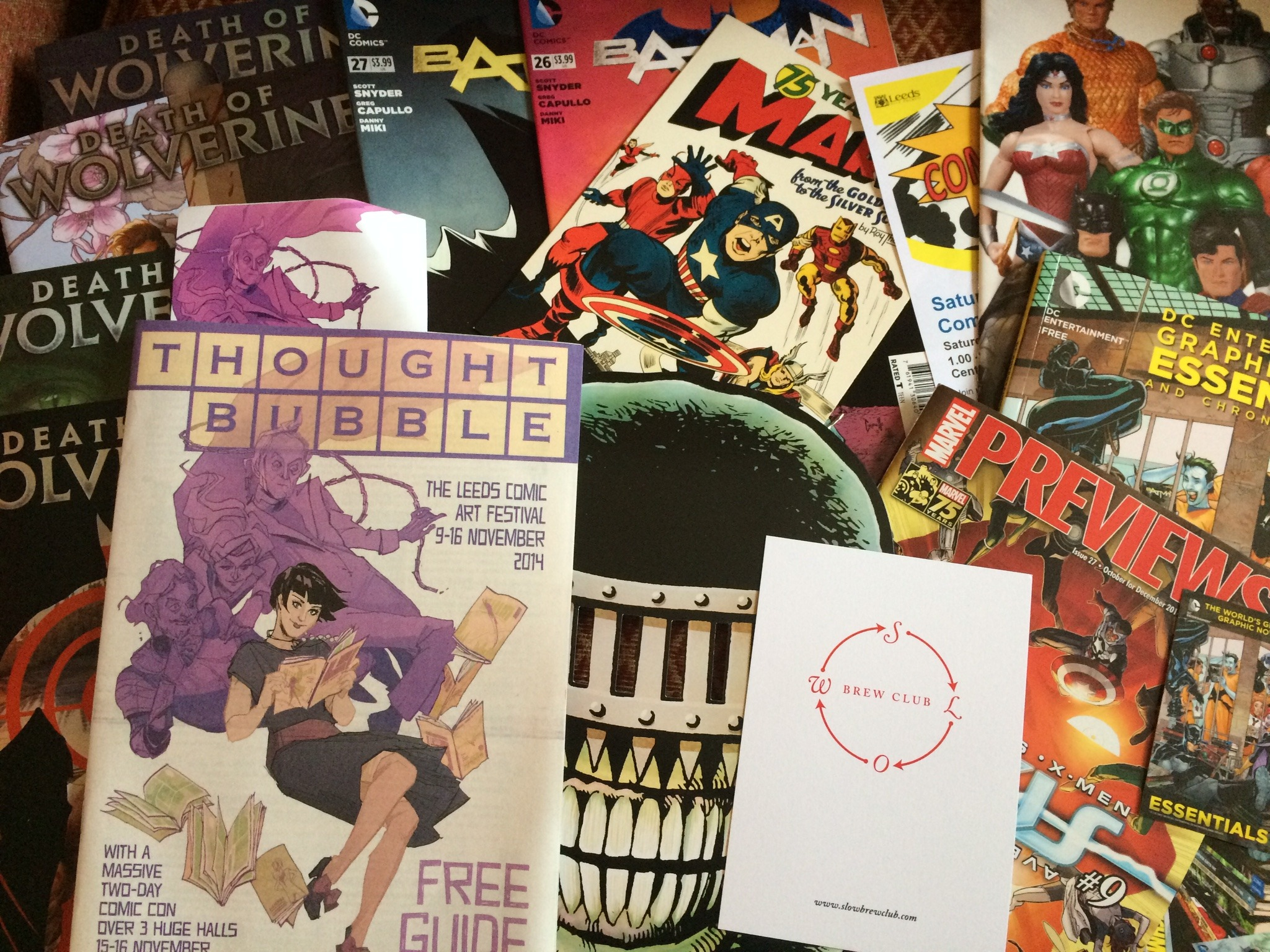 Thought Bubble Festival goers got a stack of freebies on entry to the 2014 event. Photo: Antony Esmond