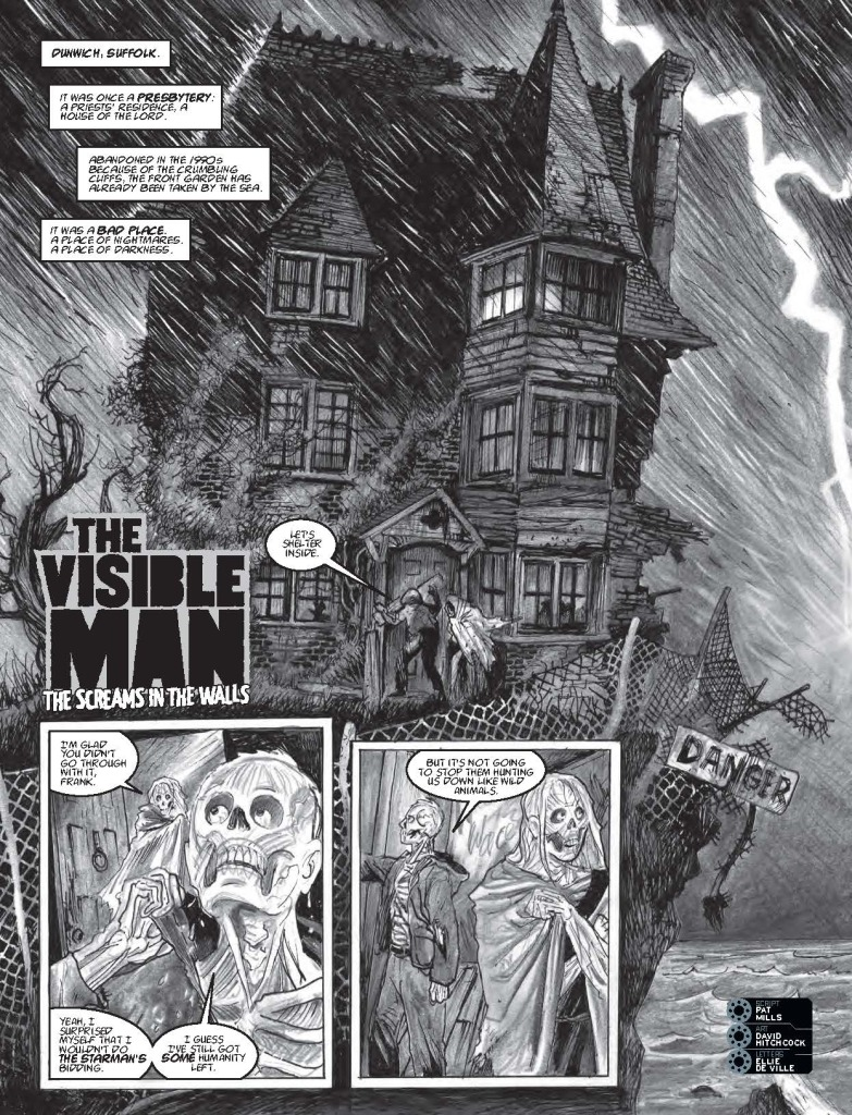 "The opening page from ""The Visible Man"" in 2000AD Prog 2015"
