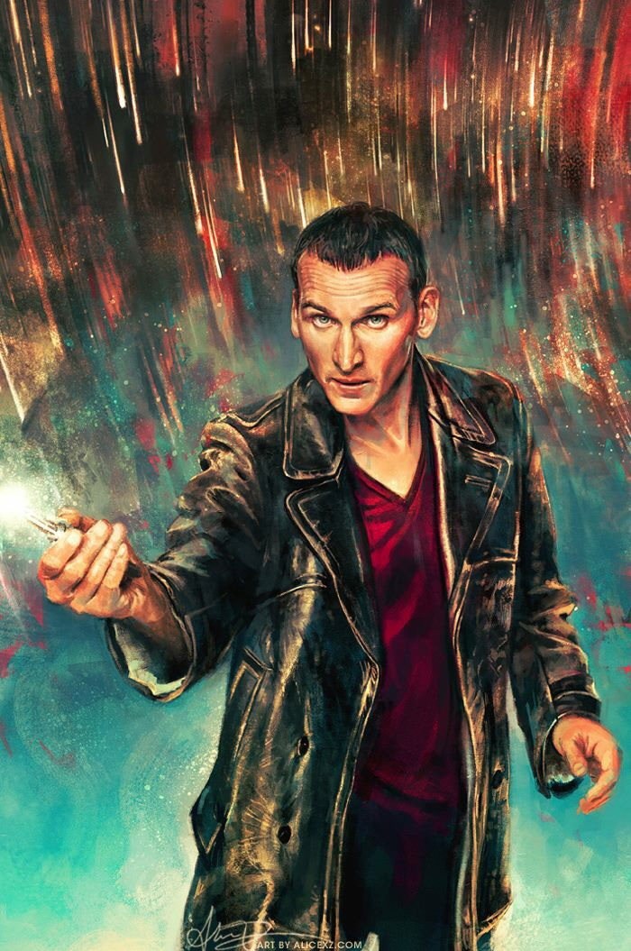 Alice X. Zhang's full art for her cover of the first issue of the Ninth Doctor series.