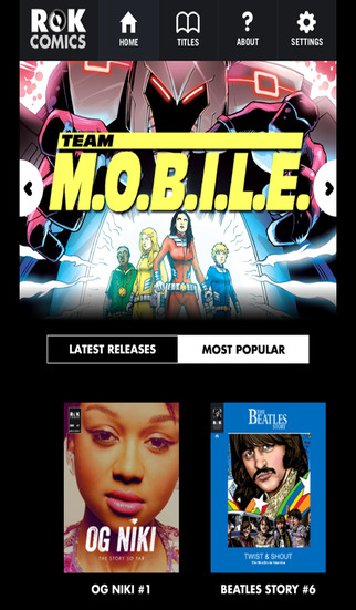 ROK Comics App - Screenshot