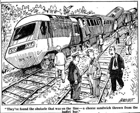 One of Honeysett's editorial cartoons for the Evening Standard, published in 1979.