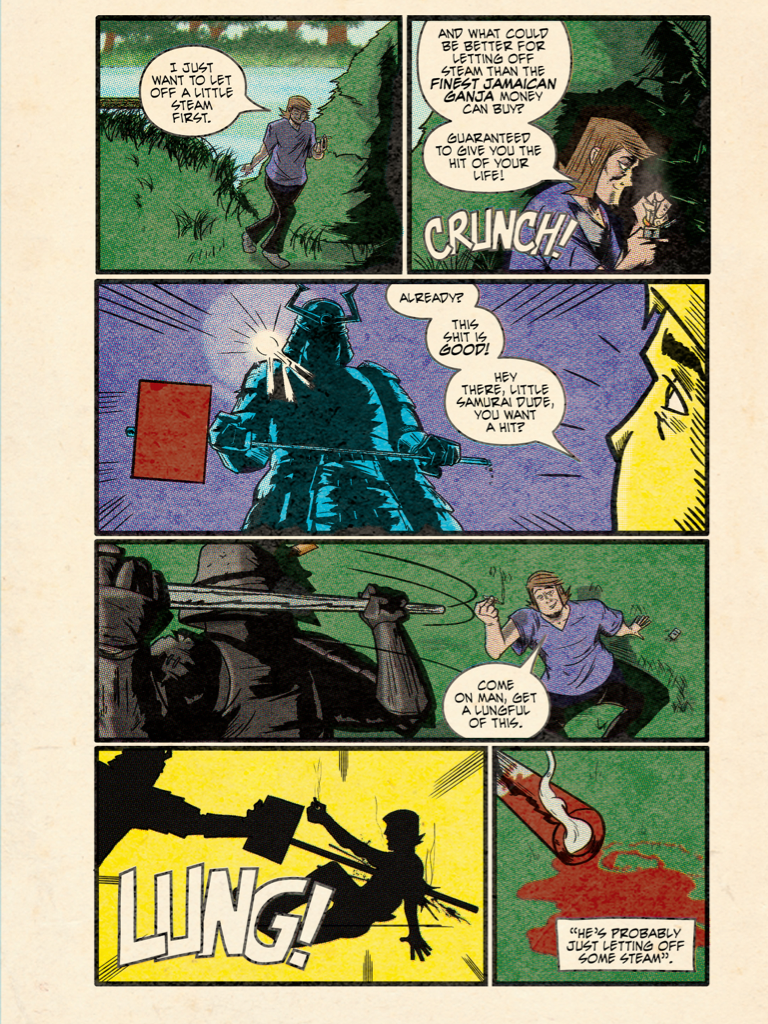 Samurai Slasher - Sample Page
