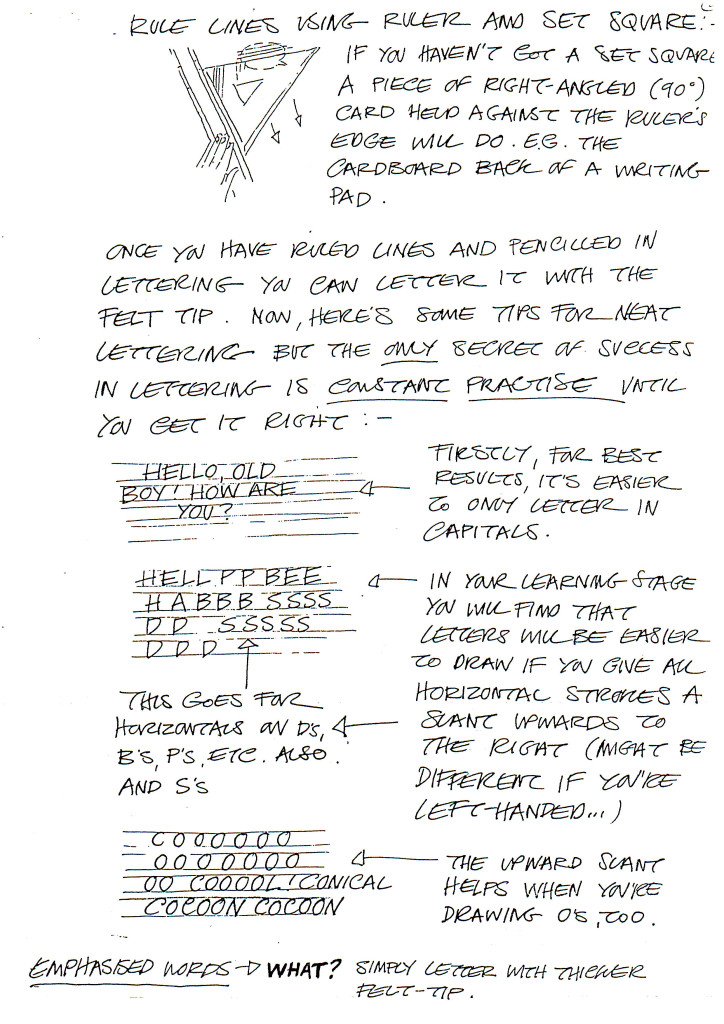 David Lloyd's Lettering Guide Page 2