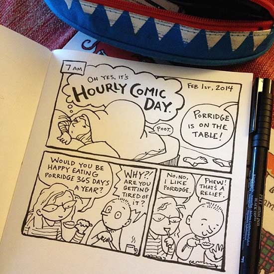 Hourly Comics Day 2015 by Sarah McIntyre