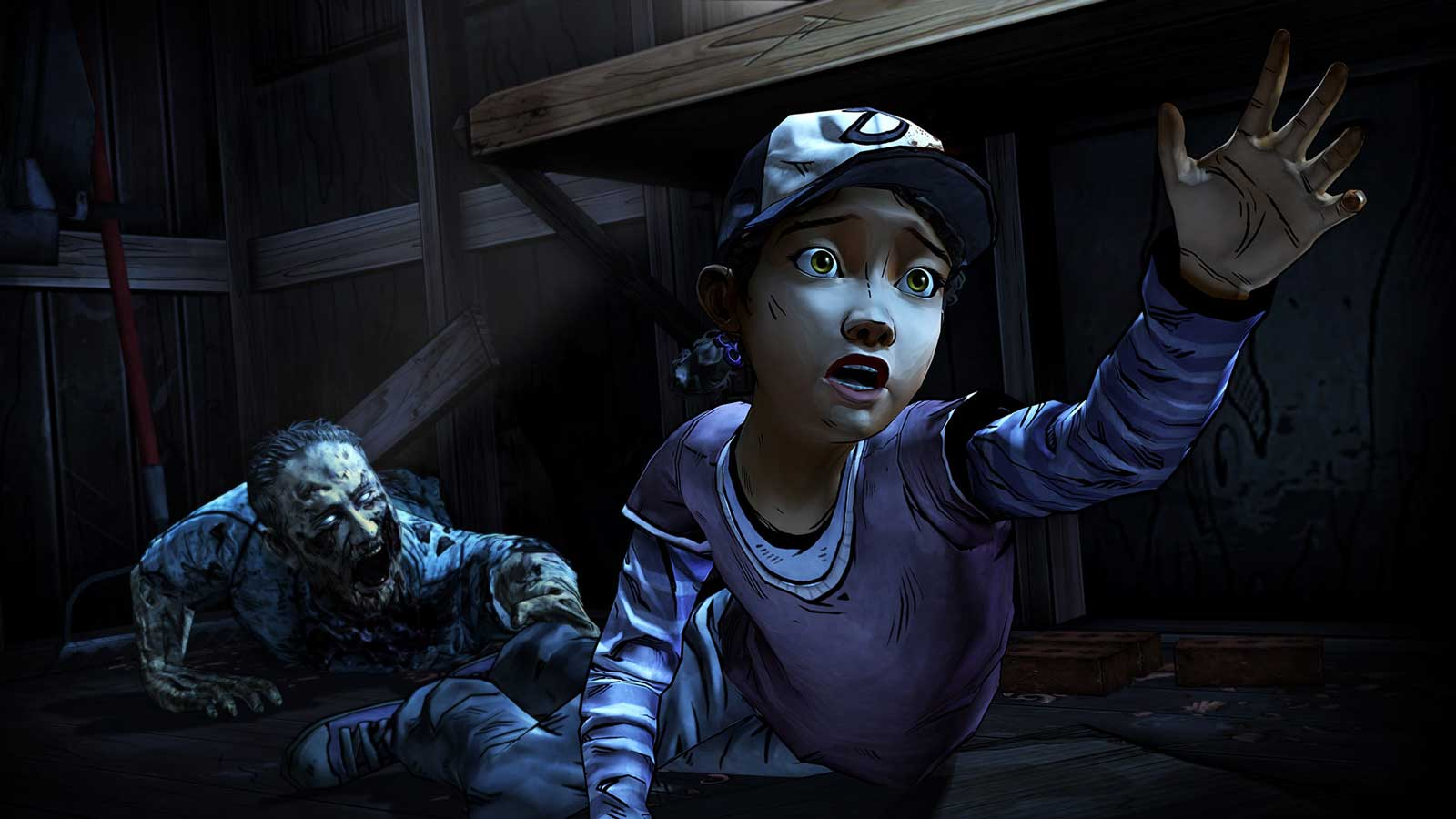 A scene from The Walking Dead: Season Two game