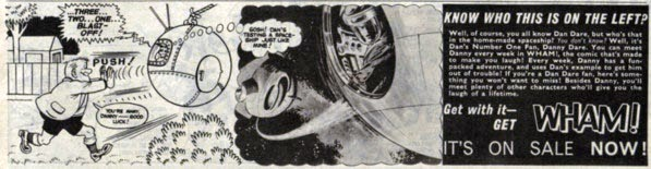 "An advertisement promoting ""Danny Dare"", Dan Dare's Number One fan"