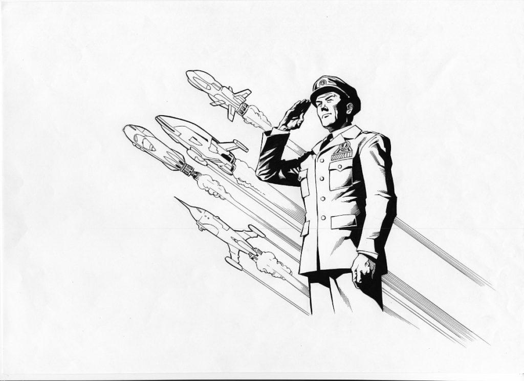 Dan Dare Character Design by Joe Pimentel for Print Media