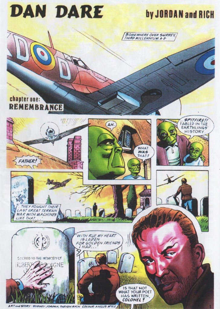 """The only published episode of """"Dan Dare"""" for the Planet on Sunday newspaper."""