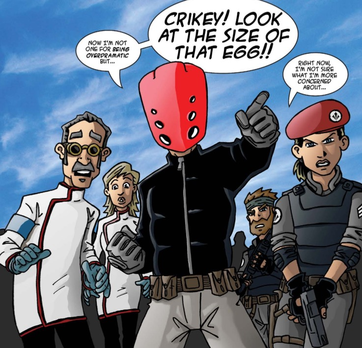 The Red Mask From Mars - Issue 2 - Sample Page