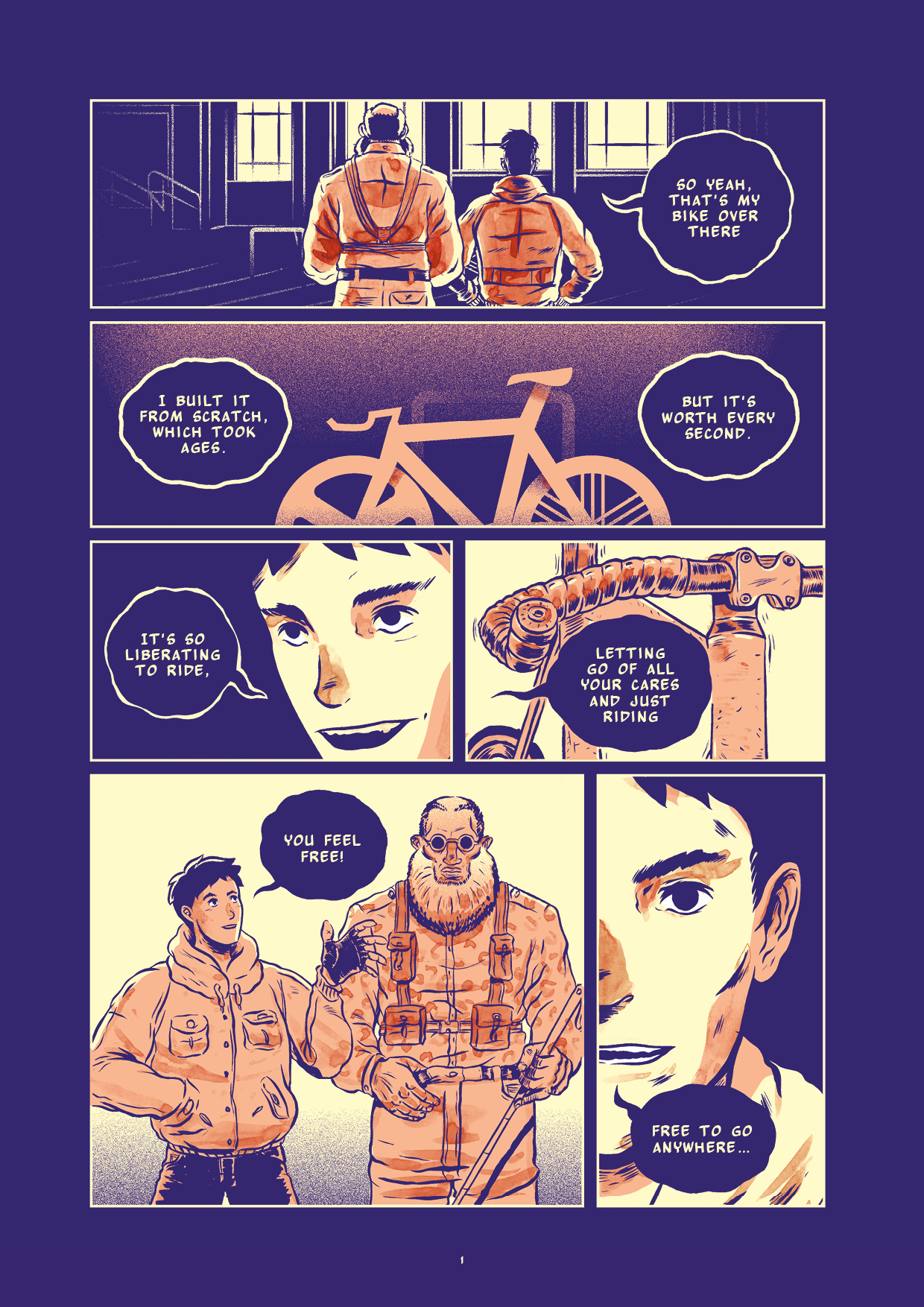 """The first page of """"Cogs"""" by Lorenzo Fruzza"""