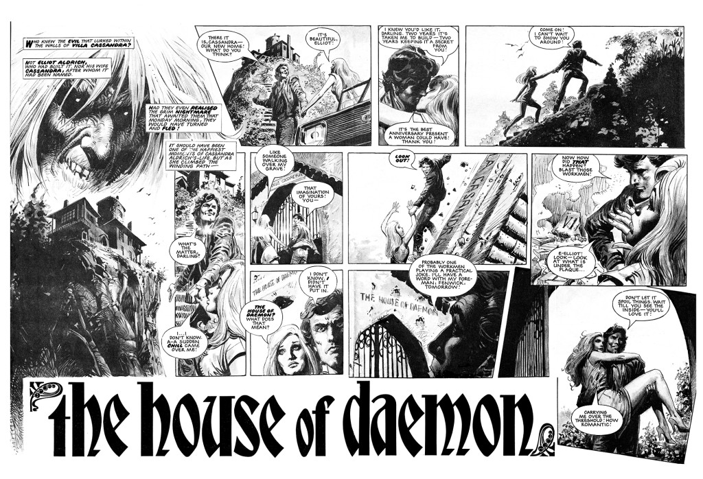 Coking soon from Hibernia: House of Daemon, a collection of the classic strip from the new Eagle by John Wagner, Alan Grant and José Ortiz.
