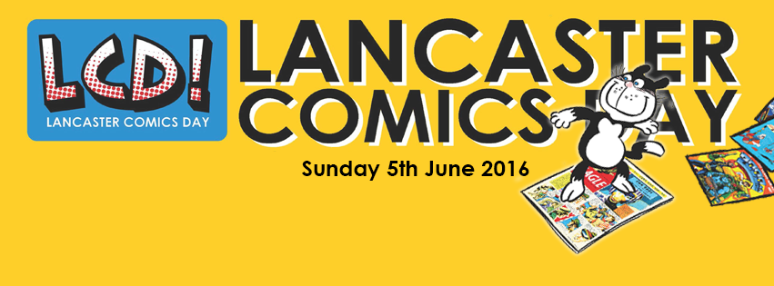 Lancaster Comics Day 2016 Masthead
