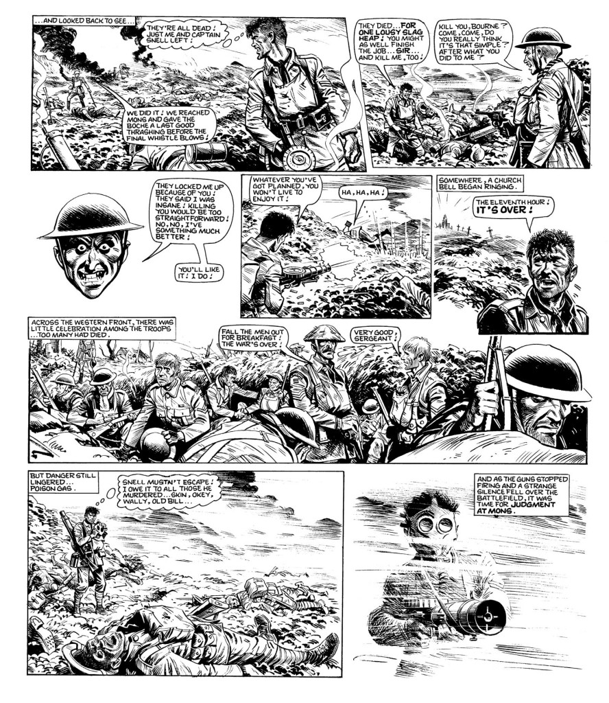 """Grim war time action in """"Charley's War"""", with art by Joe Colquhoun."""