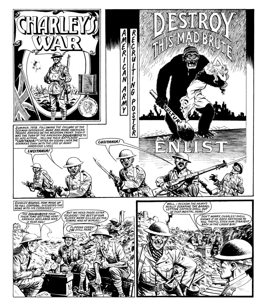 """A page from """"Charley's War"""" featured in Volume 10 of the the Titan Books series."""