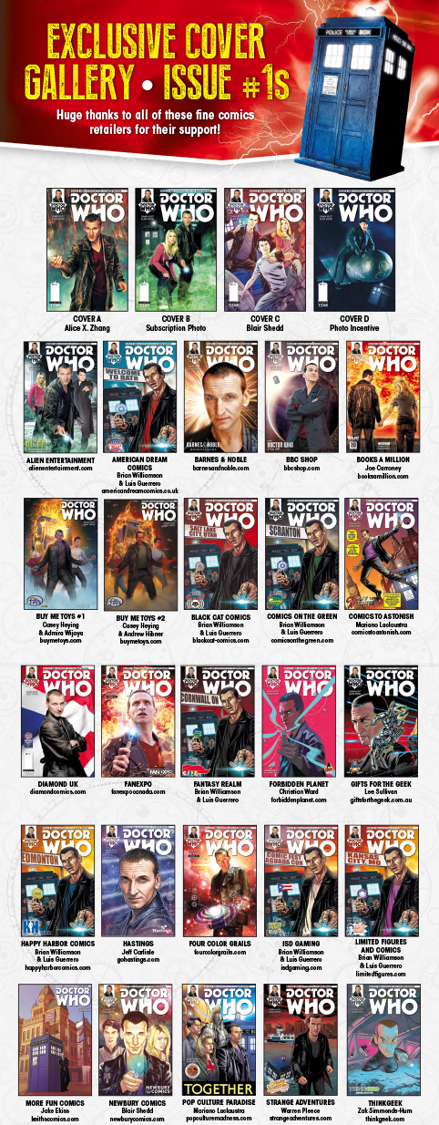 You want variant covers? Titan hasn't slacked for Doctor Who: The Ninth Doctor #1!