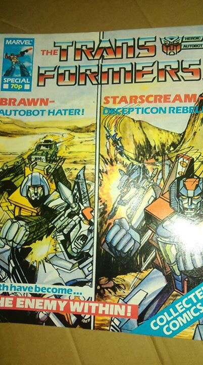 Marvel UK Transformers Collected Comics Special. Photo: Steven Holder
