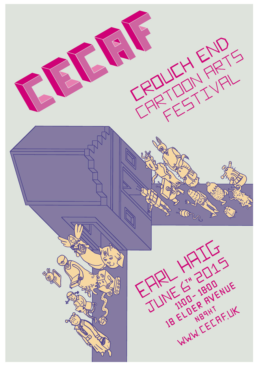Crouch End Comic Arts Festival 2015 Poster