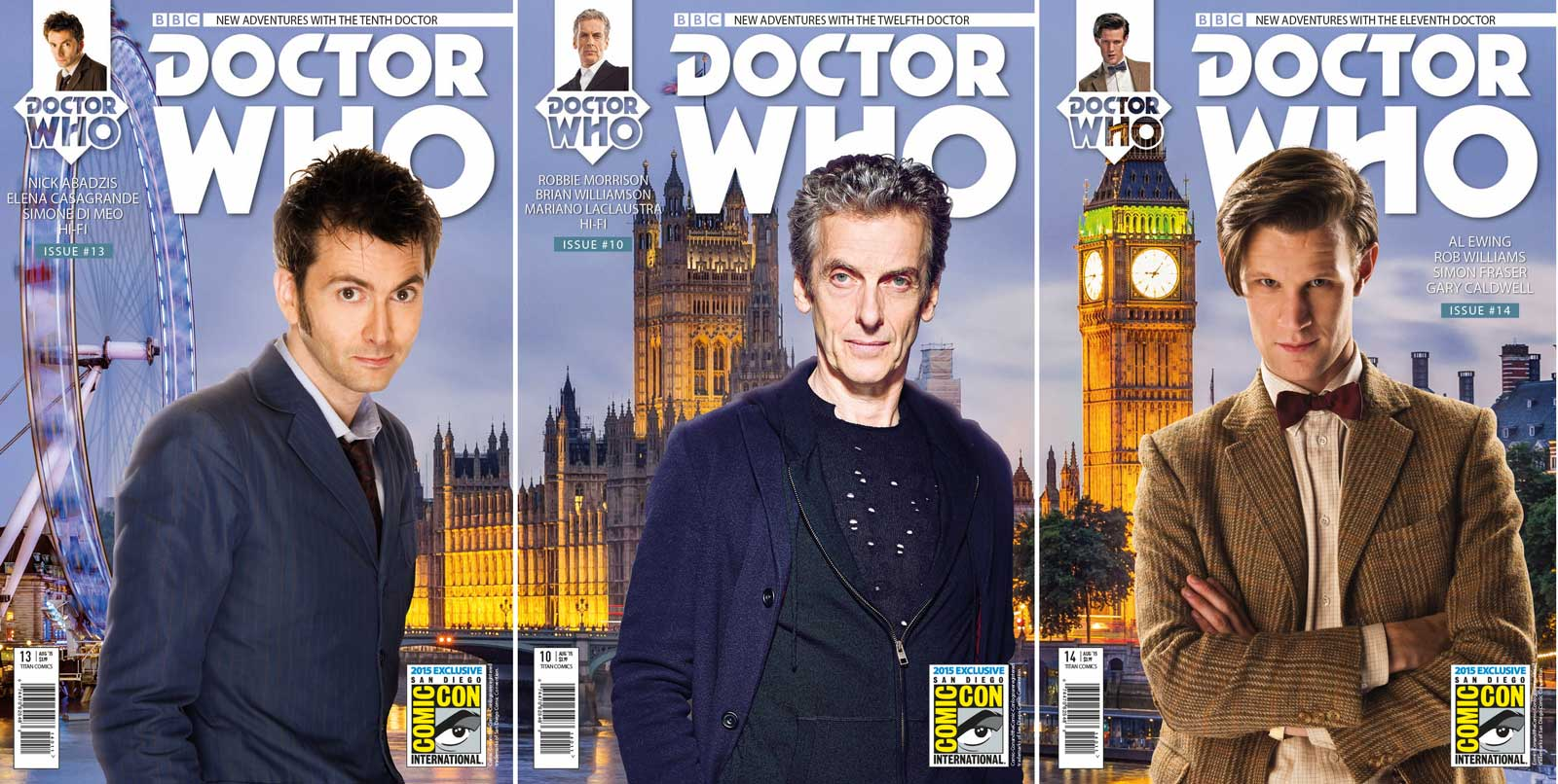 Doctor Who SDCC Triptych Exclusive Covers
