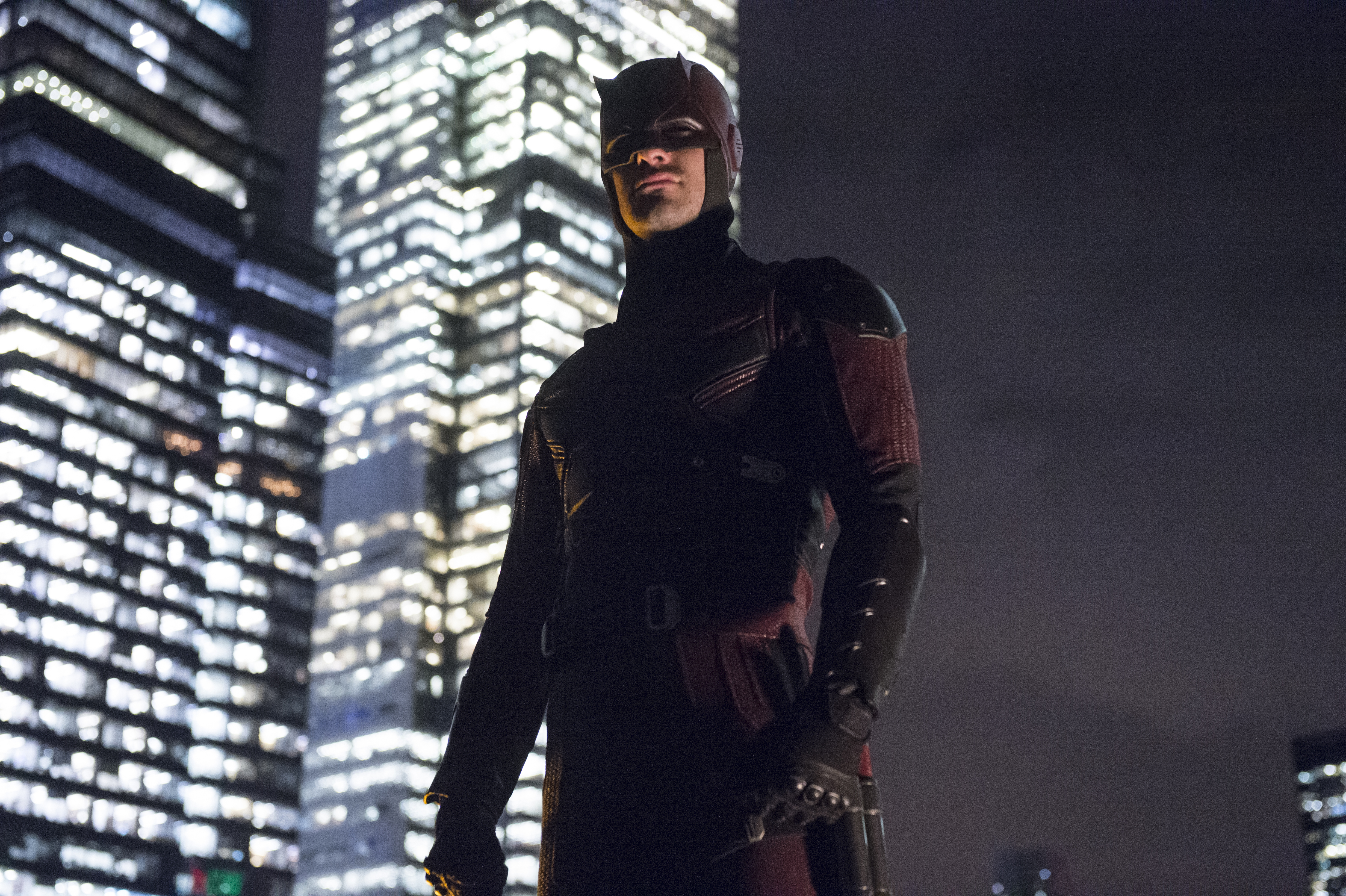"""Charlie Cox as Daredevil in the Netflix Original Series """"Marvel's Daredevil"""" Photo: Barry Wetcher © 2014 Netflix, Inc. All rights reserved."""