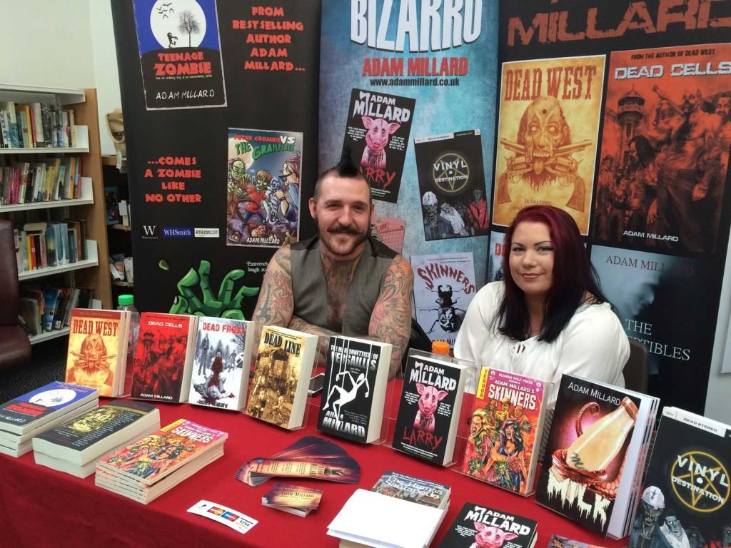 Horror, fantasy and steampunk author Adam Millard
