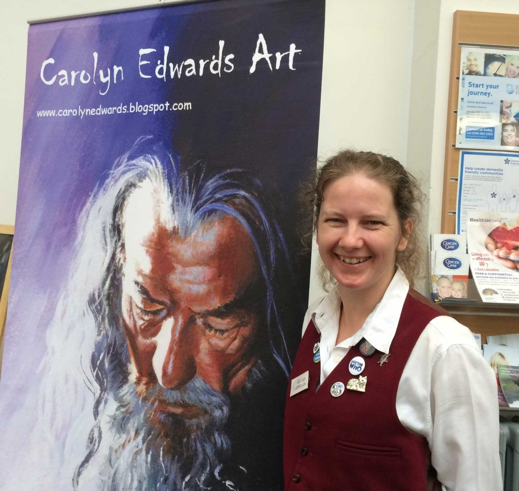 Talented illustrator Carolyn Roberts, whose work sovers Doctor Who to Red Dwarf and Lord of the Rings