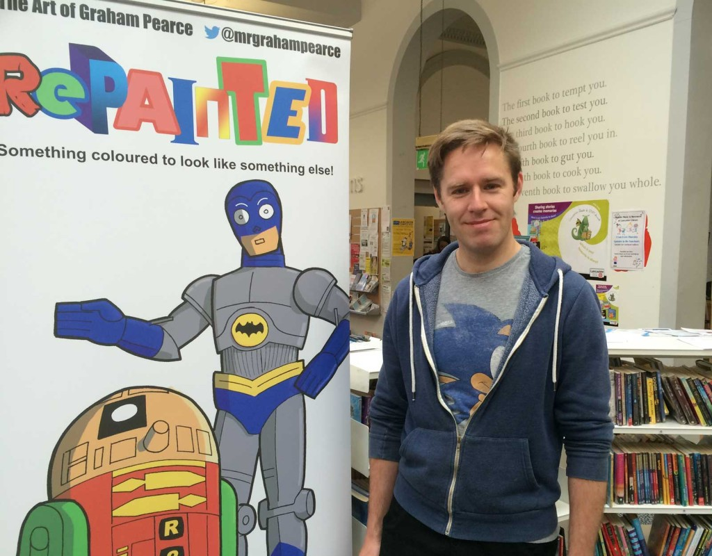 "Graham Pearce, who took a break from creating more Sgt Mike Battle Adventures to run his fun ""Reapinted"" workshop for kids, which he'll be doing again at this year's Lakes International Comic Art Festival"