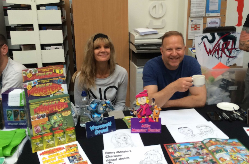 Joe Matthews, publisher of Funny Monsters Comic, with partner Michelle.