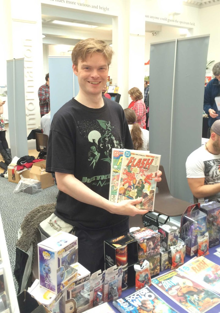 First Age Comics co-owner Mark Braithwaite. First Age kindly sponsored the Festival, covering some production costs.