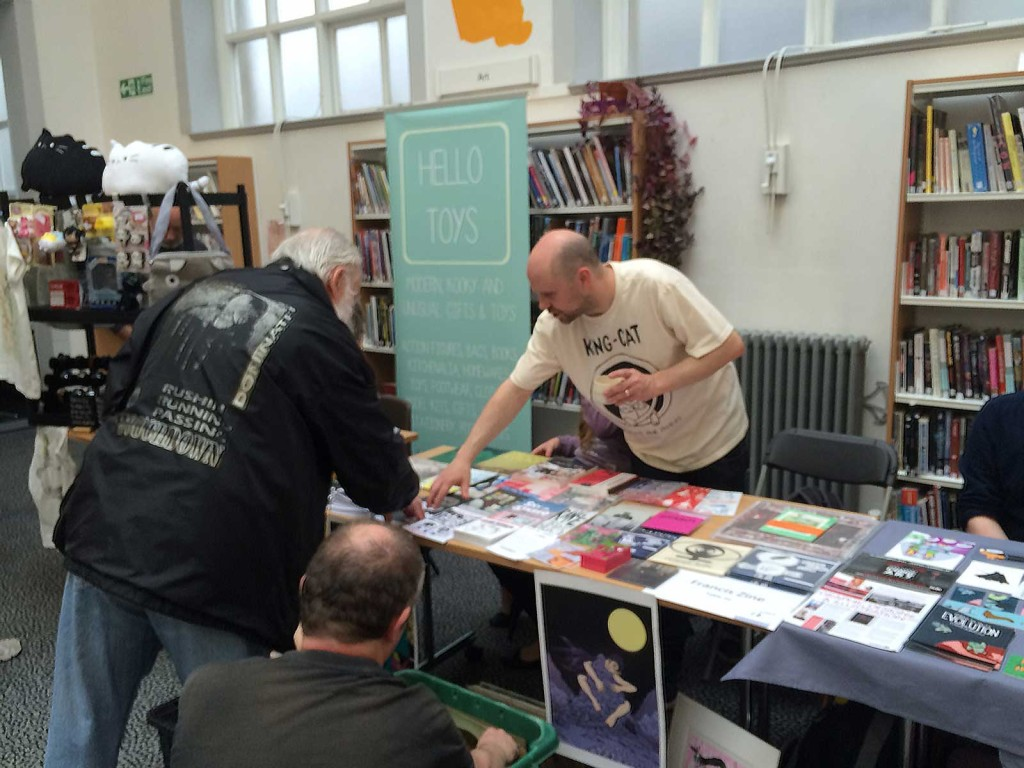 Francis Zine had a brisk trade in local zines, including Frankenzine, a special title published for Lancaster Comics Day featuring illustrations and strips by local artists