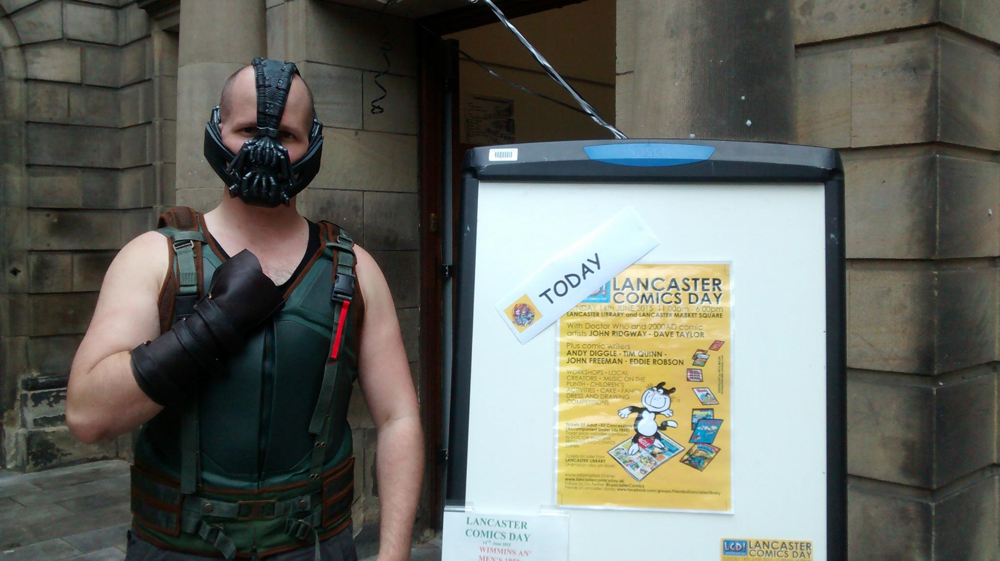 Super villains failed to put off comics fans from enjoying Lancaster Comics Day! Photo courtesy Friends of Lancaster Comics Day