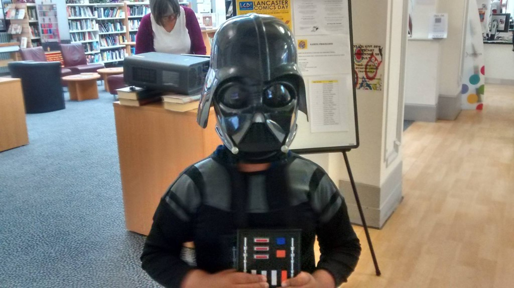 A young Darth Vader surveys Lancaster Comics Day. Photo courtesy Friends of Lancaster Comics Day