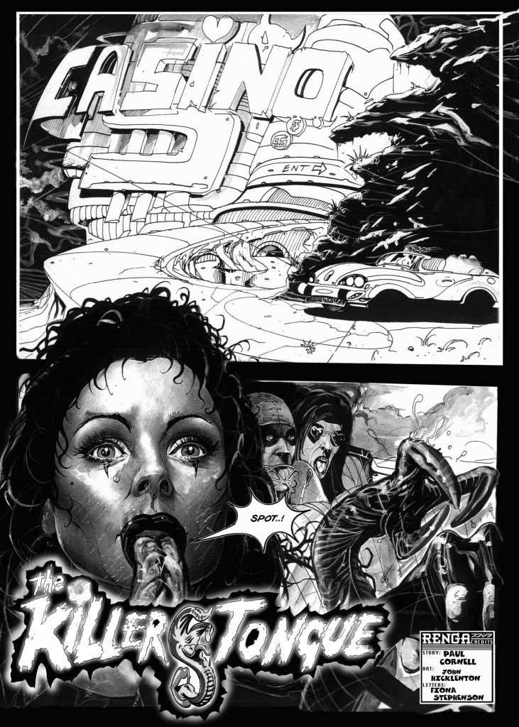 """""""Killer Tongue"""", written by Paul Cornell and drawn by John Hicklenton"""