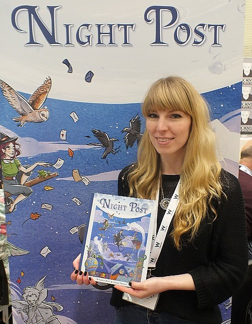 Improper Book's Laura Trinder shows off her silent graphic novel Night Post at Wonderlands 2015. Photo: Jeremy Briggs
