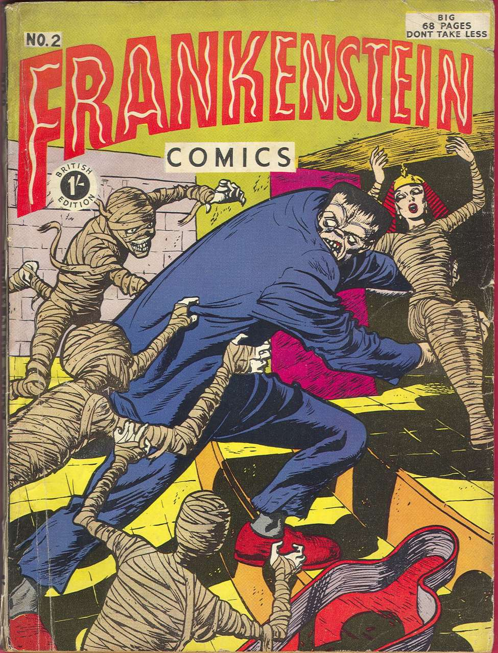 The British edition of Frankenstein Comics #2, published by New York based Galaxy Publishing.