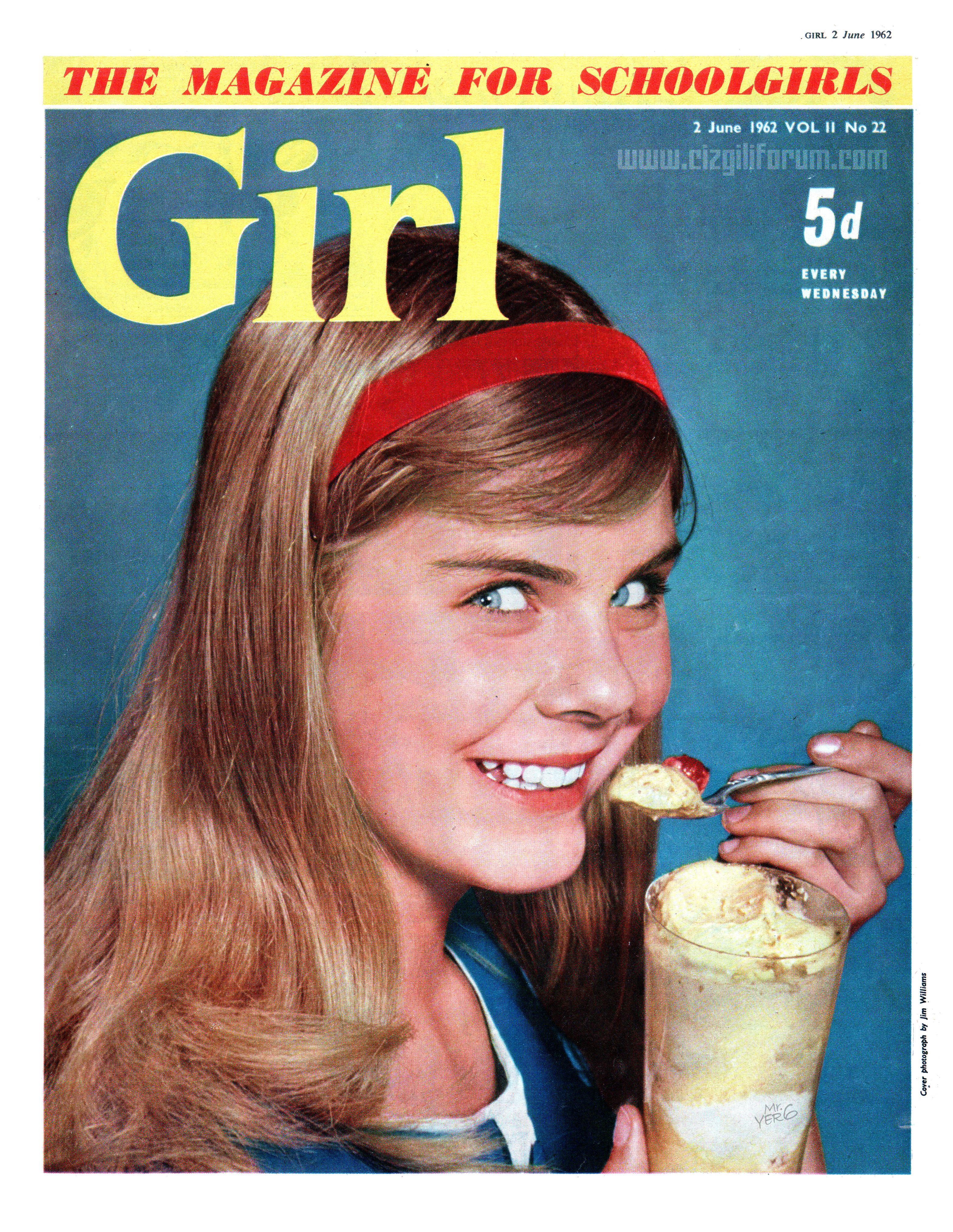 A 1962 issue of Girl - a very different-looking title compared with its earliier, strip-led format