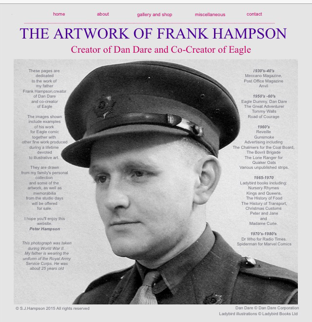 The Artwork of Frank Hampson - Web Site