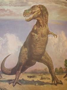 Dinosaur art by Zdenek Burian
