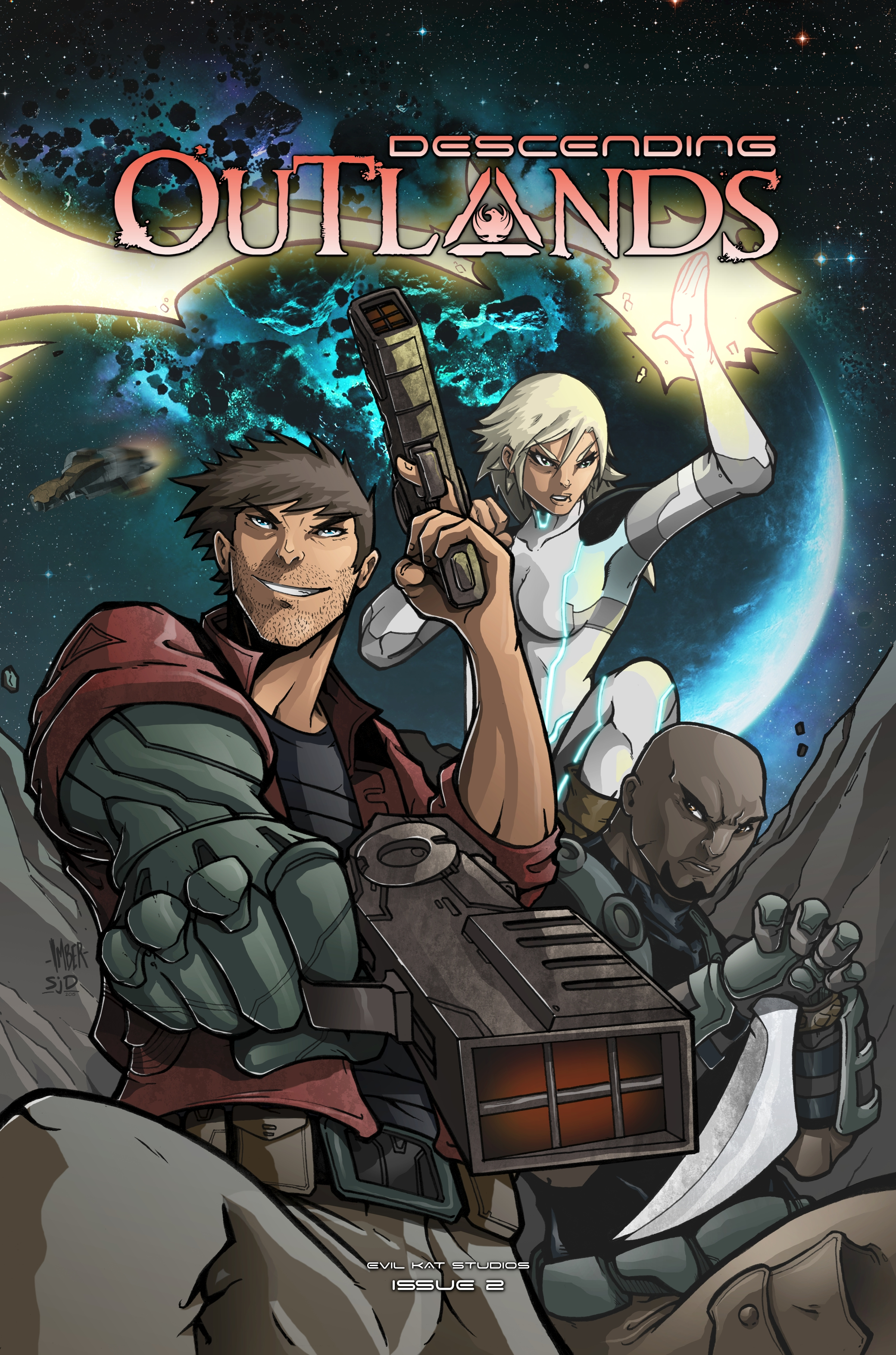 Descending Outlands Issue 2 - Cover