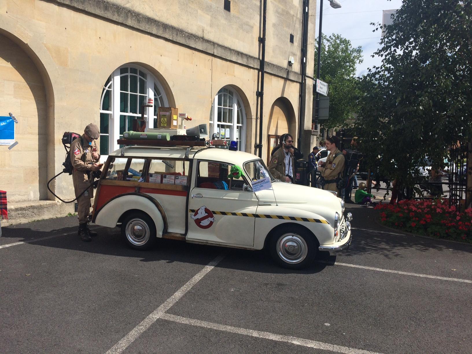 The British arm of Ghostbusters arrive at Melksham. Photo: Tony Esmond
