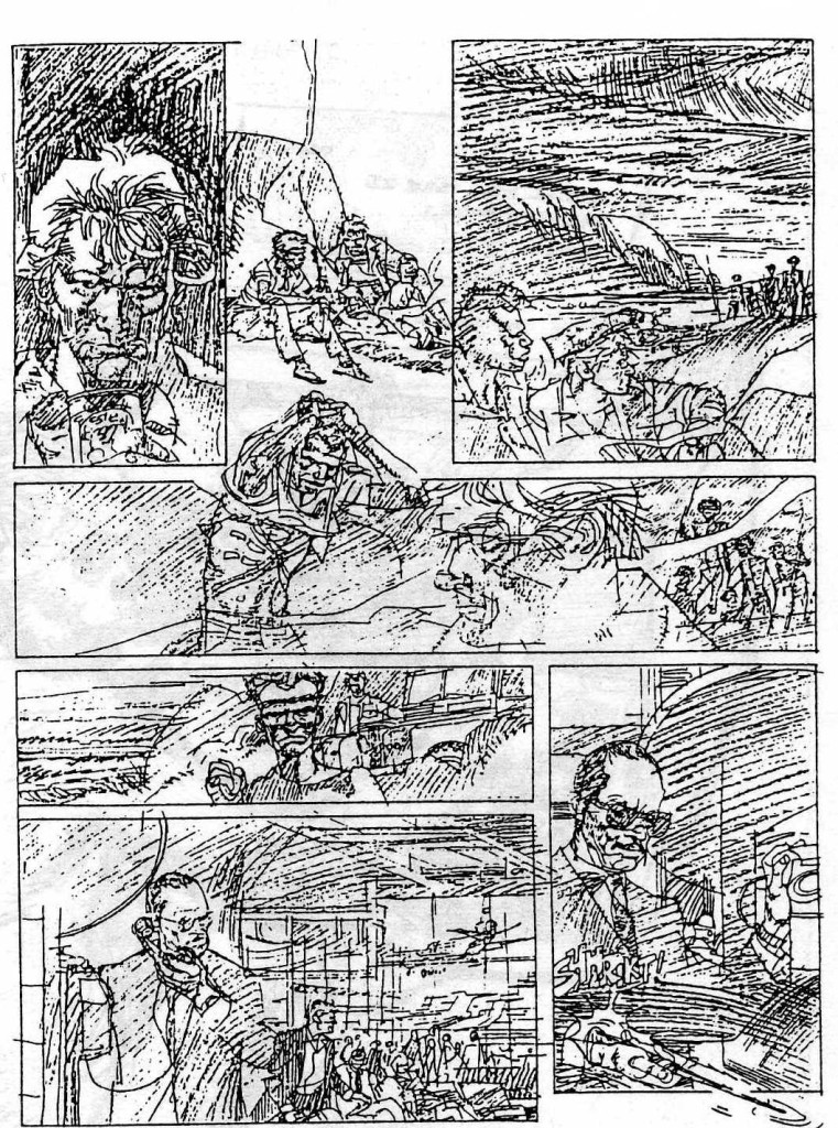 "Pencils for ""Johnny O'Hara"" by John M. Burns"