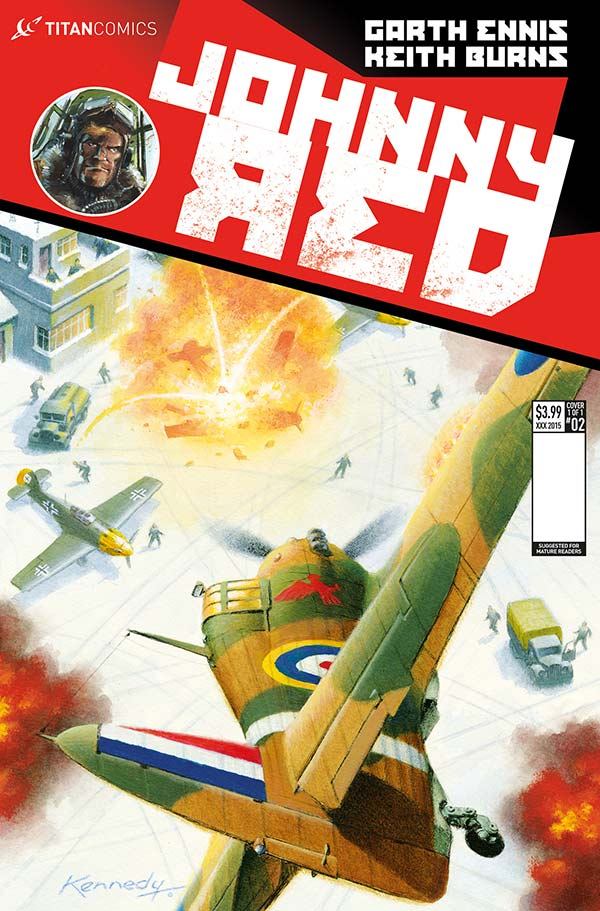 Ian Kennedy's variant cover for Johnny Red #2 from Titan Comics