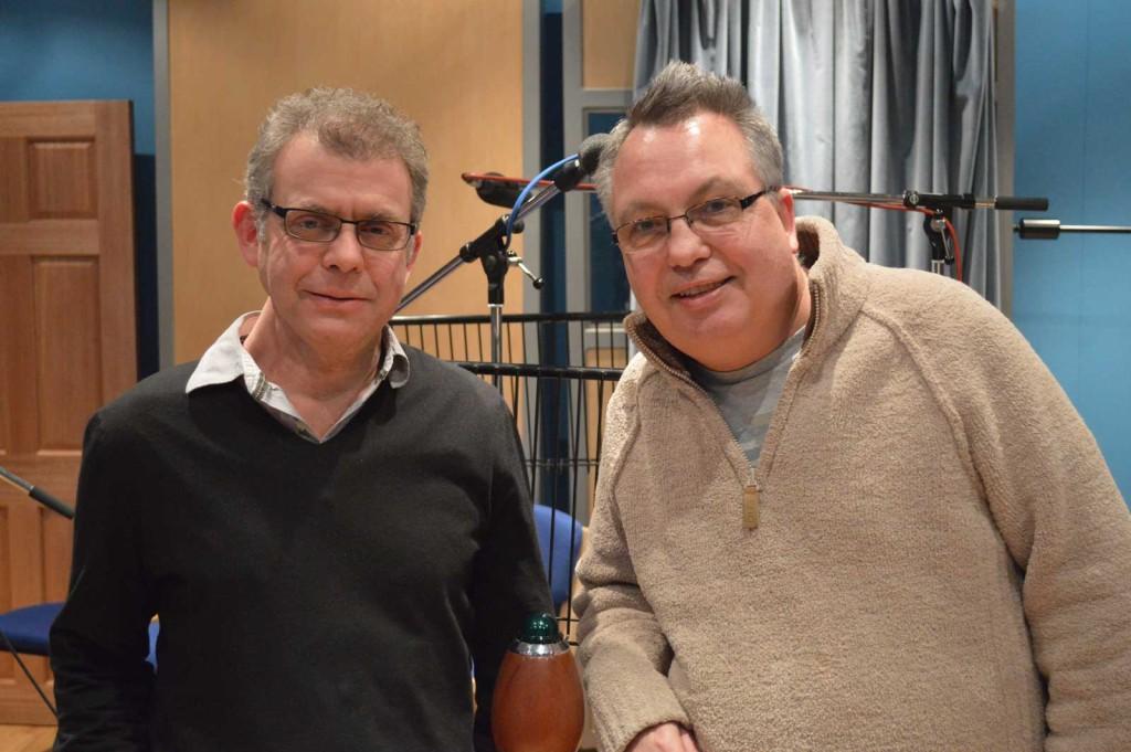 Richard Kurti and Bev Doyle, lead writers on the new Dan Dare show.