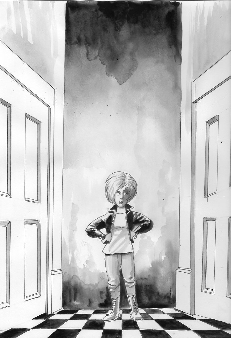 A young Charlotte Corday features in a new test story, Warp Wizard, by Stephen Walsh, illustrated by Keith Page. Art © Keith Page