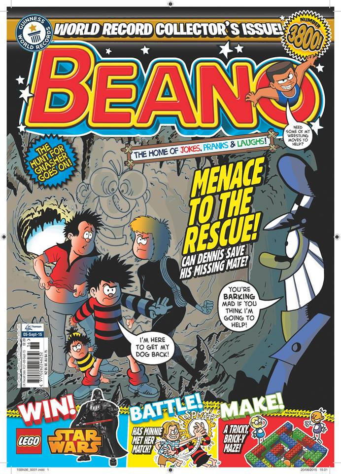 The Beano, cover dated 5th September 2015