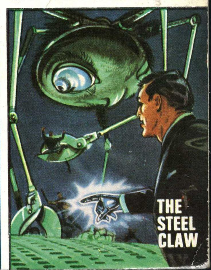 Louis Crandell, the Steel Claw, up against alien invaders... Art © Rebellion Publishing Ltd