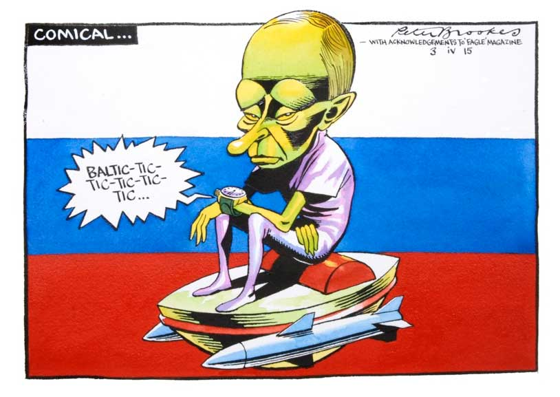 A familiar face provides the humour in this Peter Brookes cartoon. More info here. © Peter Brookes